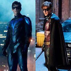 Dick Grayson Batman, Batman And Superman, Batman Robin, Anime Couples Manga, Cute Anime Couples, Anime Girls, Nightwing, Titans Tv Series, Richard Grayson