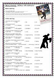 English worksheet: Movie Activity: Shall We Dance?