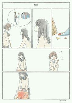 [공유] 너에게 앞으로 조금 더 -봄, 여름, 가을, 겨울-.manhwa : 네이버 블로그 Cute Couple Art, Anime Love Couple, Girly Drawings, Cartoon Drawings, Comic Drawing Styles, Japanese Cartoon, Manga Love, Cute Comics, Manhwa