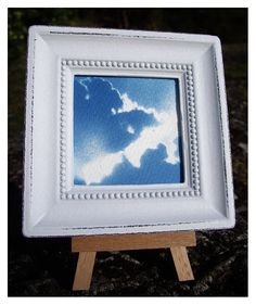 'Every cloud has a silver lining' Cyanotype Framed (Free UK Postage) £9.99