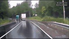 Dash cam catches semi crash