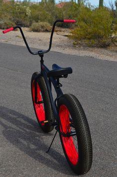 Click this image to show the full-size version. Beach Cruiser Bikes, Cruiser Bicycle, Beach Cruisers, Bicycle Art, Bmx Bikes, Cool Bikes, Montain Bike, Electric Bike Kits, Lowrider Bike