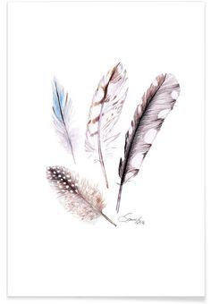 Feather als Premium Poster door Janine Sommer | JUNIQE