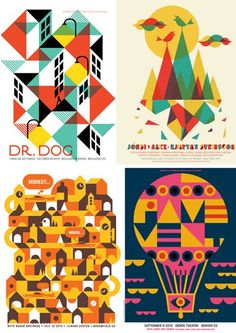 print & pattern: band posters