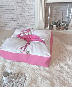 This Madart Inc. Pinkest Flamingo Floor Pillow is perfect! #zulilyfinds