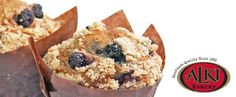 When the same old toast won't do .... Locally made Alki Bakery Blueberry Streusel Muffins.