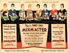 The Sunbeam team. For they created the wonderful Mixmaster that has helped the home-cook for so many years. Weird Vintage, Vintage Ads, Vintage Images, Vintage Prints, Vintage Food, Retro Advertising, Vintage Advertisements, Retro Ads, Vintage Kitchen