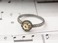 Beautiful Citrine Ring - November Birthstone Ring Jewelry - Custom created in your size on Etsy, $45.00