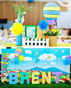 "Playful ""Oh the Places You'll Go"" First Birthday Party // Hostess with the Mostess®"