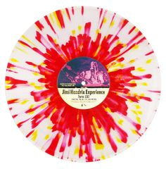 Jimi Hendrix splatter record, photographed by Erika Records