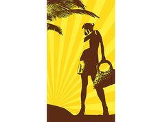 PEARL Extragroßes Bade und Strand Handtuch 100 x 180 cm mit Motiv