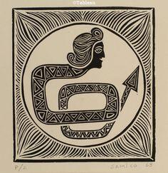 Samico. Xilogravura (1968). 18x17 cm