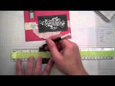 Chalkboard Technique, Stampin' Up! Style - YouTube *()