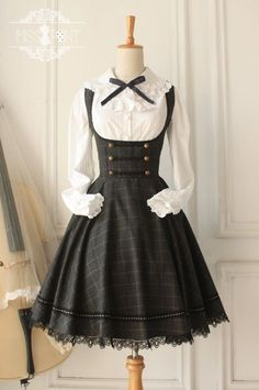 Miss Point Vintage Style Gingham Lolita Corset JSK  my-lolita-dress [Custom Sizing Available | Only $60.99]