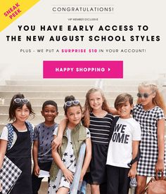 See the August 2016 FabKids Collection. New Members BOGO Shoes + VIP Members $10 shopping credit!  - http://hellosubscription.com/2016/07/fabkids-august-2016-collection-bogo-shoes-new-members/ #FabKids #subscriptionbox