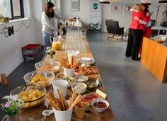 Nibbles and drinks for the social networking evening on the 13th May 2015.