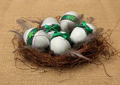Jajka drewniane komplet 5 szt w glowapelnapomyslow na DaWanda.com