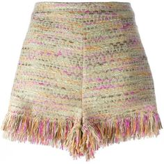 Diane Von Furstenberg woven fringed shorts (181.885 CLP) ❤ liked on Polyvore featuring shorts, bottoms, pants, multicolour, fringe shorts, diane von furstenberg, multi colored shorts, colorful shorts and woven shorts