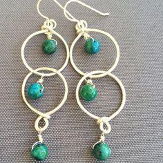 Image of Pacific hoop earrings