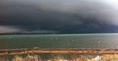 Ciel d'orage à Frontignan plage André Caparros
