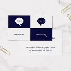 Simple quotation marks interpreter business card quotation mark interpretertranslator english spanish feminine business card reheart Images