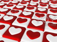 red-and-white-hearts-over-chess-board