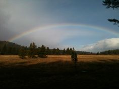 Rainbow over the Upper Truckee River in South Lake Tahoe, CA