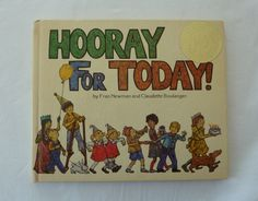 Vintage Children's Book - Hooray for Today by Fran Newman and Claudette Boulanger - First Printing - Canadian Book Vintage Children's Books, Esty, Gratitude, Childrens Books, My Etsy Shop, Handmade Gifts, Happy, Prints, Rabbit