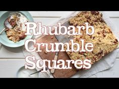 Rhubarb Crumble Squares | Abel & Cole