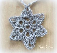 Des étoiles pour faire une guirlande Free pattern - Tuto gratuit - diagramme - étoile au crochet - Star - Aglaé                                                                                                                                                                                 Plus