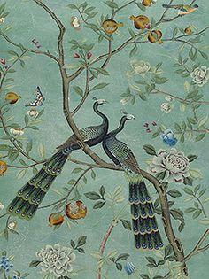 De Gournay Wallpaper   Baran de Bordeaux - French Antiques & Interiors