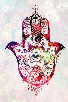 hand - hamsa hand - hipster - indie - eye -  colors