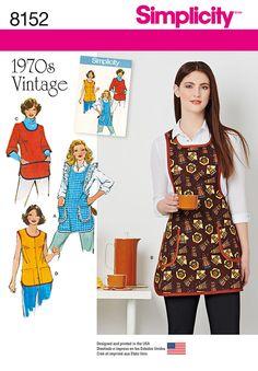 c168020ee6dea Simplicity Simplicity Pattern 8152 Misses  Vintage 1970 s Aprons