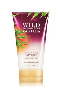 Wild Madagascar Vanilla - Vanilla Bean Body Scrub - Bath & Body Works - Reveal smoother looking skin with our luxurious Body Scrub! Sugar crystals gently exfoliate, while soothing Vitamin E and Vanilla Bean Extract from Madagascar soften skin, leaving it clean, nourished and completely pampered.