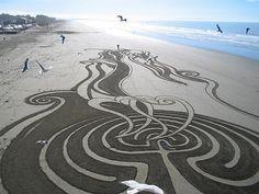 Peter Donnelly - NZ born sand artist