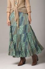 Sage Multi Color Flowy skirt: Western Wear | Women Western Clothing | Western Apparel Clothing