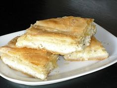 Authentic Greek Recipes: Greek Cheese Pie (Tiropita) With Feta And Bechamel