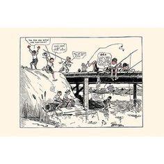 Buyenlarge 'Ellinwood's Bridge' by Clare Briggs Painting Print