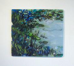 Monet's Garden, Alice Benvie Gebhart, Kiln Fired Fused Glass