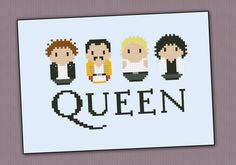 Queen rock band parody  Cross stitch PDF pattern por cloudsfactory, $4,50