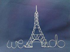 pour un mariage sur le theme PARIS MON AMOUR Eiffel Tower Wedding Cake by HeatherBoydWire, $39.00