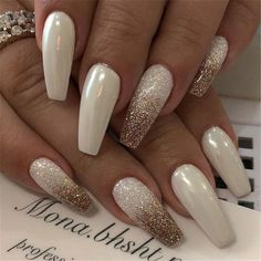 20 Elegant Long White Coffin Nail Ideas Coffin Nails Acrylic nails Summer Na Coffin nails designs Best Acrylic Nails, Acrylic Nail Designs, Nail Art Designs, Nails Design, Long Nails, My Nails, Nails Today, Nails Short, White Coffin Nails