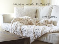 A great Christmas present to make!! Free pattern for knitting http://www.lynneknowlton.com/wool-blanket-pattern/ #gifts #christmastime