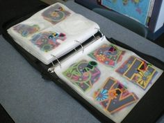 Use an old CD binder to store die-cut letters. | 29 Clever Organization Hacks For Elementary School Teachers