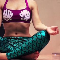 Mermaid outfit complete with a seashell sports bra. This website has so many cute mermaid clothes!