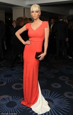 Red hot: Sarah Harding put her best sartorial foot forward at the Empire Film awards on Sunday night
