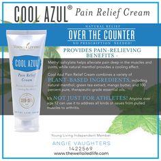 Cool Azul Pain Relief Cream - OTC pain relief cream containing Young Living essential oils!