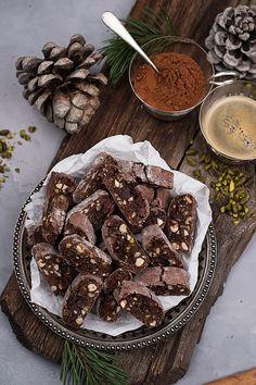 Schokobiskotti Cake Mix Cookies, Root Vegetables, Winter Food, Cookie Bars, Diy Food, Biscotti, Chocolate Chip Cookies, Christmas Cookies, Cookie Recipes