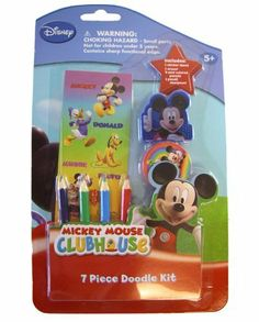 Disney Mickey Mouse Doodke Kit - 7pcs Doodle pack by Disney. $6.90. Disney Mickey Mouse Doodle Kit - Tinkerbell 7pcs Doodle packPackage includes 4 sticker sheet, eraser, 4 mini colored pencils and 1 sharpnerIntended for children over the age of 5 years oldOfficially licensed DisneyMickey Mouse drawing accessory, manufactured by National Design