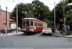 Toronto Peter Witt Streetcar at Neville Park Spur track. Busses, Street Photography, North America, Toronto, Transportation, Track, Canada, Urban, History
